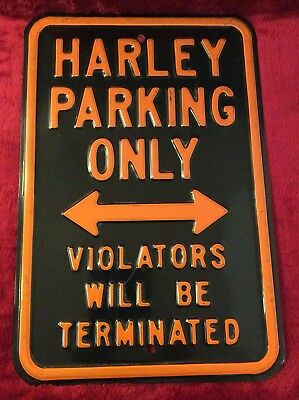 Vintage Harley Davidson Heavy Gauge Enamel Metal Sign 18x12 Over 3 Pounds 1980s