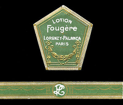 Vintage French Soap Perfume Label Early 1900's Embossed Fougere Lorenzy Palanca