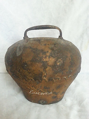 Large Antique Lucerne Swiss Cow Bell