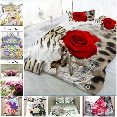 3D Effect Complete Bedding Sets Duvet Cover Pillow Cases Fitted Bed Sheets All