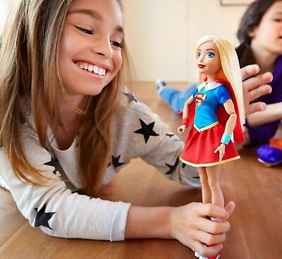 """NEW Super Dc Action 12"""" INCH Hero Girls Doll Supergirl Figure New Girl Kids Toy"""