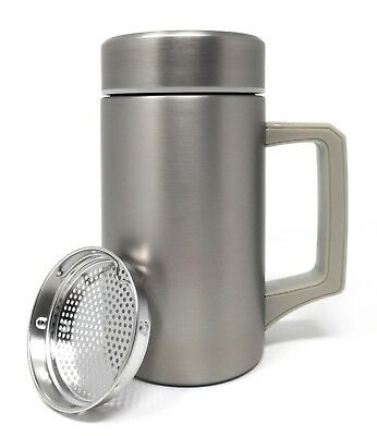 Stainless Steel Thermos Cup Tea Infuser Travel Mug - Infusion Flask - 450ml