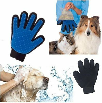 Pet Dog Cat Grooming Gentle Cleaning Glove Hair Dirt Remover Brush Deshedding UK