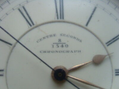 Centre Seconds Taschenuhr 935 Silber antik 1880 Fusee England Chronograph 1/5sec