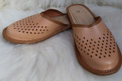 Mens Real Leather Very Comfortable Slippers All Sizes