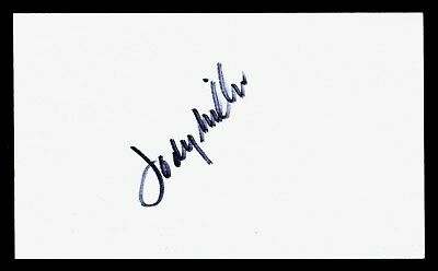 Jody Miller Country Music Singer Queen of the House Signed 3x5 Index Card C12433