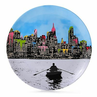 (NIB)Royal Doulton Street Art Nick Walker The Morning After New York F B/C Plate