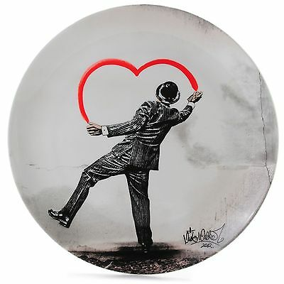 (NIB) Royal Doulton  Street Art  Nick Walker  Love Vandal   Fine B/C Plate