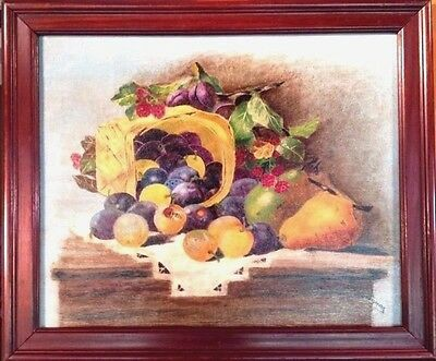 ANTIQUE 19th Century Original Oil Painting on Canvas Signed Framed Vintage