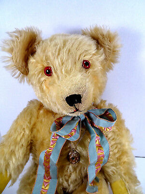 1907 Bruin Mfg. Co Gold Mohair Teddy Bear Rare than Steiff Antique Bears  19""