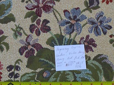 Lee Jofa English Garden Tapestry Violet Daisy Pansy 12Y #1556