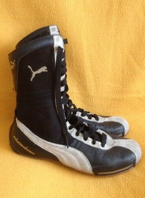 Puma Schattenboxen boxing boots SIZE UK 6 black with grey suede detail