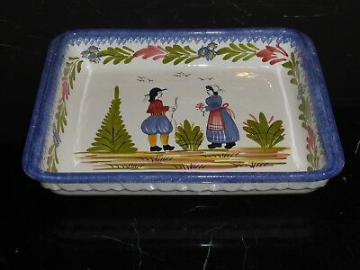 Henriot Quimper French Pottery Breton Square Tray
