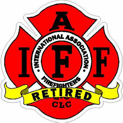 4 Inch Non-Reflective IAFF Retired Firefighter Maltese Sticker Decal