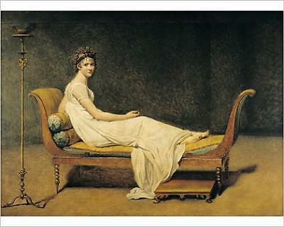 """10""""x8"""" (25x20cm) Print of Madame Recamier, 1800 (oil on canvas) from"""