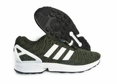 huge discount c68a3 02688 NEW ADIDAS ORIGINALS Mens ZX Flux Shoes Black White - $59.24 ...