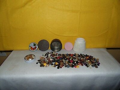 Vintage Assorted Lot of Misc. Sewing Buttons, Metalic and Plastic: 1 Pound plus