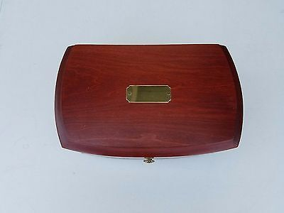 Vintage Eureka Mfg. Reed and Barton Wooden Jewerly Box 8/98 LR.