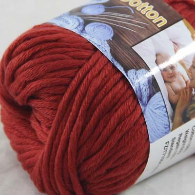 Hot Sale 1Ball X 50g Thick Chunky DIY Worsted 100% Cotton HAND Knitting Yarn 18