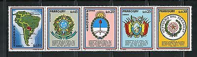 Paraguay Complete MNH Set #1448-1452 Presidential Summit Stamps