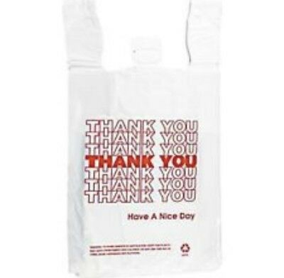 T-Shirt Bag ThankYou Plastic Grocery retail Carry out Bags (Large ,Medium,Small)