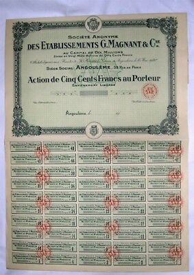Action Ancienne: Ets G. Magnant & Cie ( 251 )