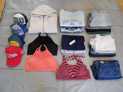 29 Piece LOT of Girls Juniors Clothes Clothing and Accessories Sizes L and XL