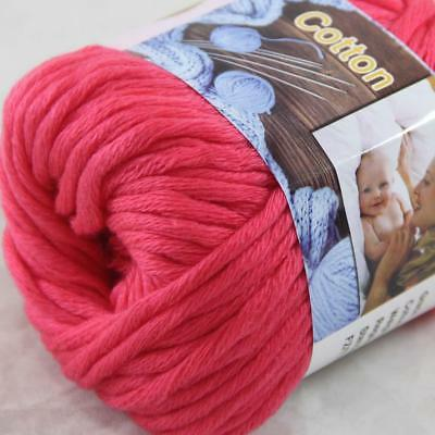 Hot Sale 1Ball X 50g Thick Chunky DIY Worsted 100% Cotton HAND Knitting Yarn 16