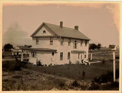 Old Antique Vintage Photograph Gorgeous Old Country Farmhouse Home
