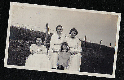 Antique Vintage Photograph Three Women in White With Adorable Little Girl