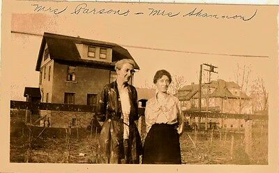Old Antique Vintage Photograph Two Women Standing in Front of Country Home House