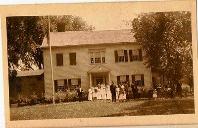 Old Antique Vintage Photograph Gorgeous Old Country Home People In Front