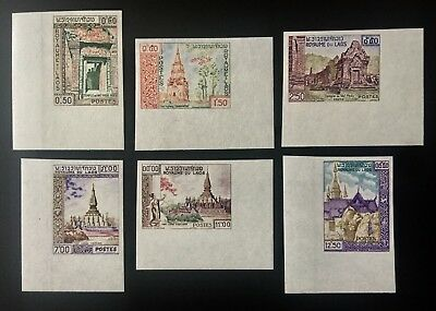 Laos Lao MiNr 97-102 Imperforates MH 1959 France