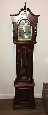 Grandmother Long case Wind Up By Key Clock Mechanical 31 Day Movement