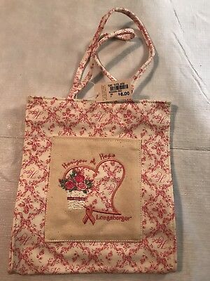 Longaberger Tiny Tote Horizon Of Hope