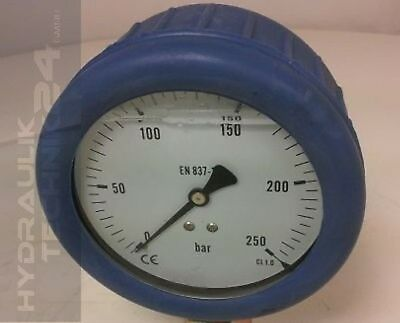 Hydraulic Manometer Glycerin Stainless Steel Eco-Line 0 Bis +6 Bar with