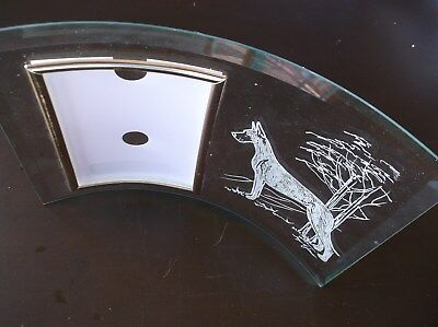 Great Dane- Fawn- Beautifully hand engraved Freestanding Photo Frame by Ingrid