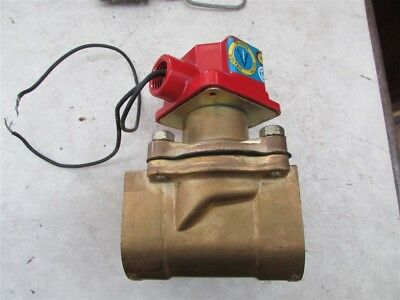 "New Lancer Skinner 1-1/4"" NPT 120 Volt Brass Electric Valve 2LB27BB7127 D-3"