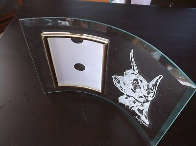 Great Dane [Fawn] Beautifully hand engraved, freestanding Photo Frame by Ingrid
