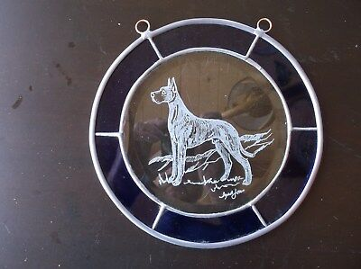 Great Dane [Fawn] Beautifully hand engraved creation  by Ingrid Jonsson
