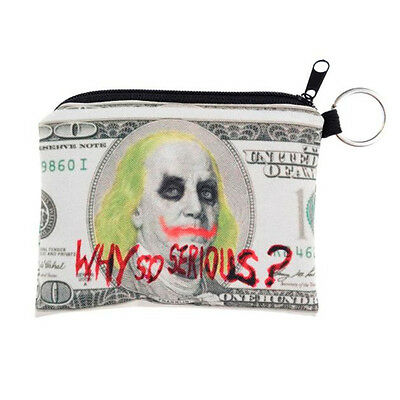 """Unisex Joker """"Why So Serious?"""" Coin & Note Purse / Wallet   Free Postage"""