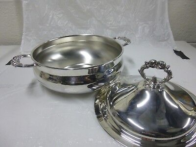 Vintage Leonard Silver Plated Covered Casserole Dish