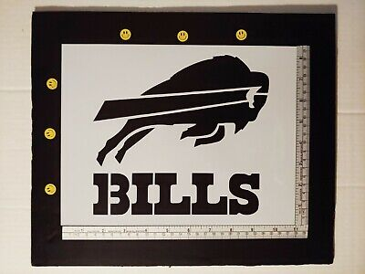 "Buffalo Bills 11"" x 8.5"" Custom Stencil FAST FREE SHIPPING"