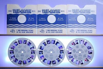 Wisconsin 3-reel Set WISC-123 - Reels Only - Sawyers View-Master