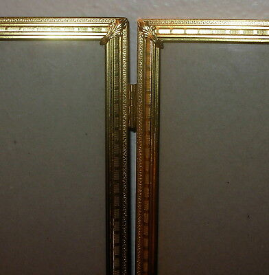 Vintage Triple Hinged 8x10 Brassmetal Photopicture Frame 8 X 10