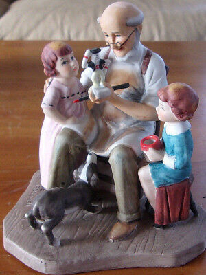 """Vintage 1980 Norman Rockwell """"the Toymaker"""" Figurine *limited* 6"""" Tall  Euc"""