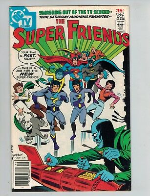 The Super Friends 7  1st Wonder Twins and Gleek!  VF 1977 DC Comic!