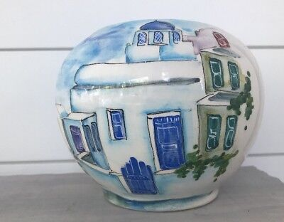 Painted Vase/Jar Made in Greece Signed