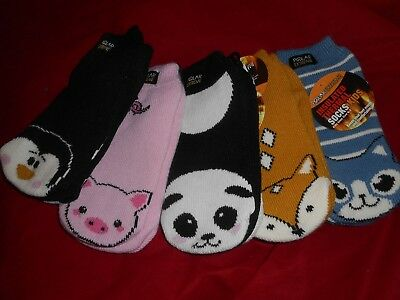 Polar Extreme Heat Kid's Insulated Thermal Animal Critter Socks Fits Shoe 6-3