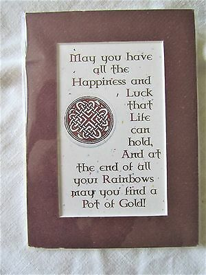 Irish Celtic Print - May You Have All The Happiness And Luck That Life Can Hold